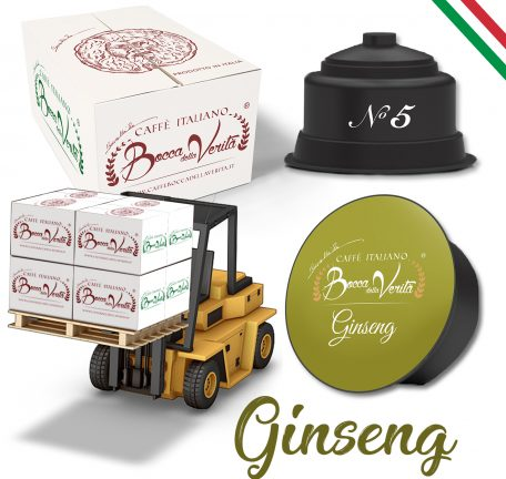 Ginseng - by PALLETS of 10 boxes x 10 capsules DOLCE GUSTO