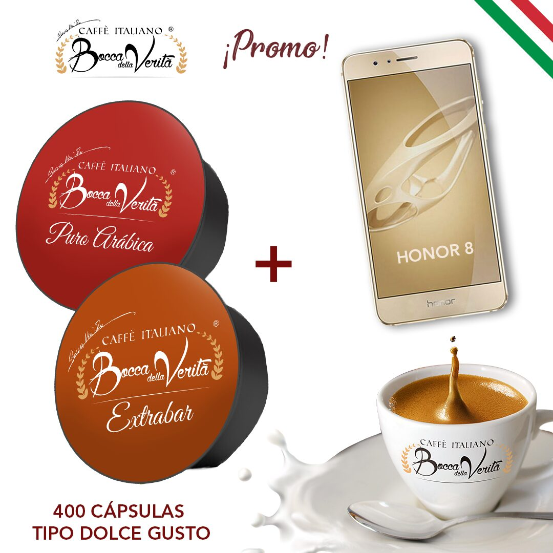 MOVIL-HONOR-8-+-DOLCE-GUSTO---Arabica-y-Extrabar